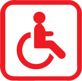 Physical disability: not adapted
