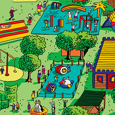 Plan interactif du parc